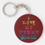 I Love My Pygmy Goats Key Chains