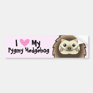 I Love My Pygmy Hedgehog Bumper Sticker