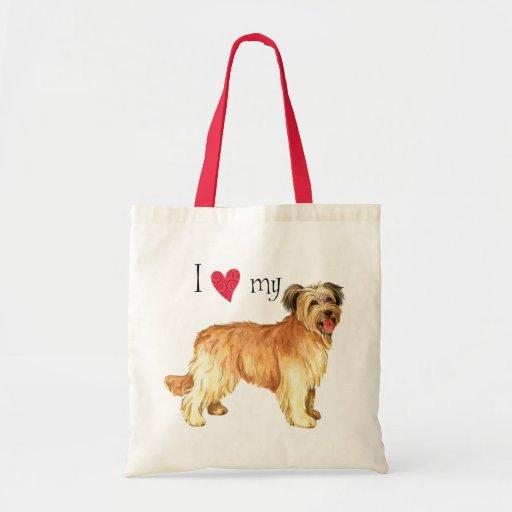 I Love my Pyrenean Shepherd Canvas Bags