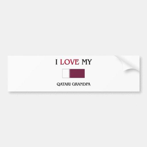 I Love My Qatari Grandpa Bumper Stickers