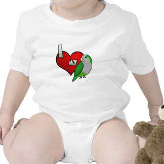 I Love my Quaker Parrot Baby Creeper