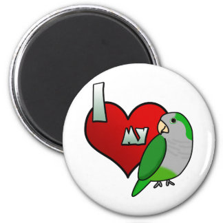 I Love my Quaker Parrot Fridge Magnets