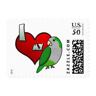 I Love my Quaker Parrot Stamps