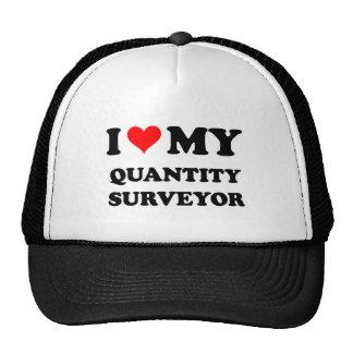 I Love My Quantity Surveyor Trucker Hat