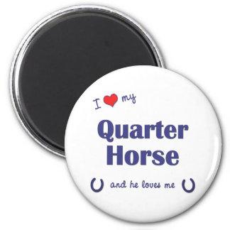 I Love My Quarter Horse (Male Horse) 2 Inch Round Magnet