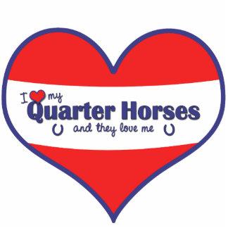 I Love My Quarter Horses (Multiple Horses) Cutout