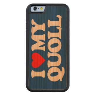 I LOVE MY QUOLL CARVED CHERRY iPhone 6 BUMPER CASE