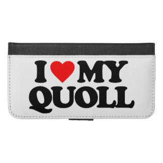 I LOVE MY QUOLL iPhone 6/6S PLUS WALLET CASE