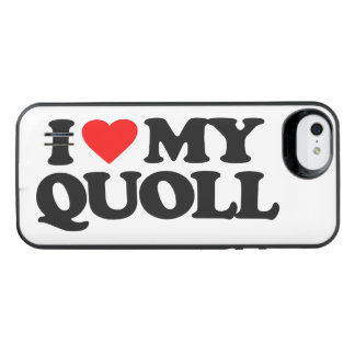 I LOVE MY QUOLL iPhone SE/5/5s BATTERY CASE