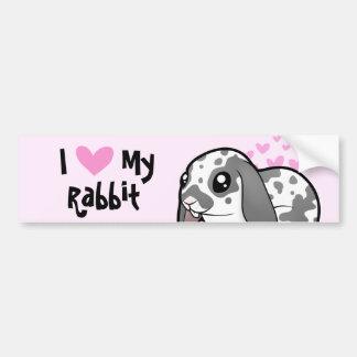 I Love My Rabbit (floppy ear smooth hair) Car Bumper Sticker