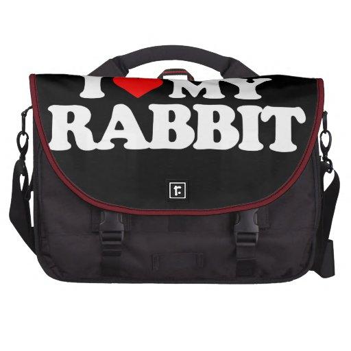 I LOVE MY RABBIT LAPTOP BAG