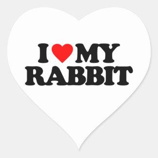 I LOVE MY RABBIT STICKERS