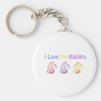 """I Love My Rabbits"" Keychain"