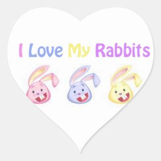 """I Love My Rabbits"" Stickers"