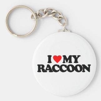 I LOVE MY RACCOON KEY CHAIN