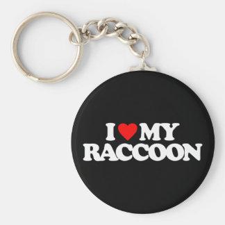 I LOVE MY RACCOON KEYCHAIN