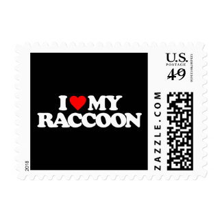 I LOVE MY RACCOON STAMPS