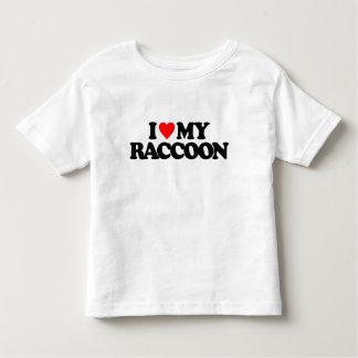 I LOVE MY RACCOON TODDLER T-SHIRT