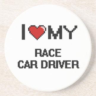 I love my Race Car Driver Beverage Coasters
