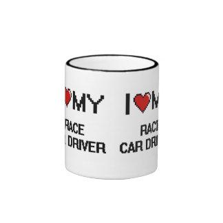 I love my Race Car Driver Ringer Mug