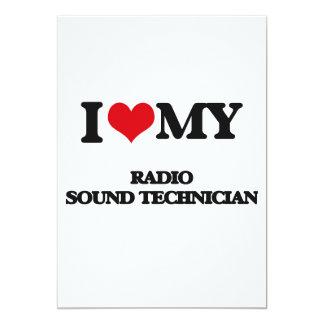 I love my Radio Sound Technician Personalized Invitation