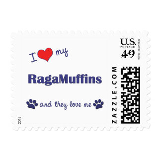 I Love My RagaMuffins Multiple Cats Stamps