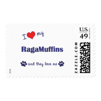 I Love My RagaMuffins (Multiple Cats) Postage Stamp