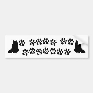 I Love My Ragdoll--Black Text Bumper Sticker