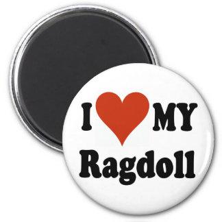 I Love My Ragdoll Cat Merchandise 2 Inch Round Magnet
