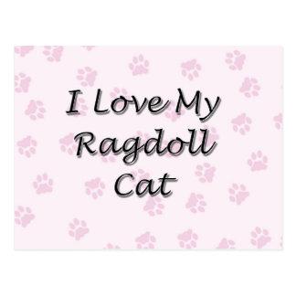 I Love My Ragdoll Cat Post Cards