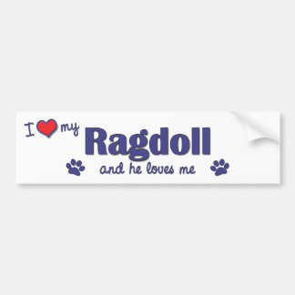 I Love My Ragdoll (Male Cat) Bumper Sticker