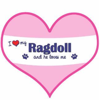 I Love My Ragdoll (Male Cat) Cutout