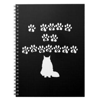 I Love My Ragdoll--White Text Notebook