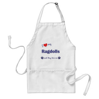 I Love My Ragdolls (Multiple Cats) Adult Apron