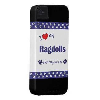 I Love My Ragdolls (Multiple Cats) Case-Mate iPhone 4 Case