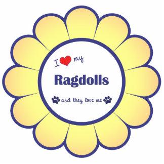 I Love My Ragdolls (Multiple Cats) Photo Sculpture