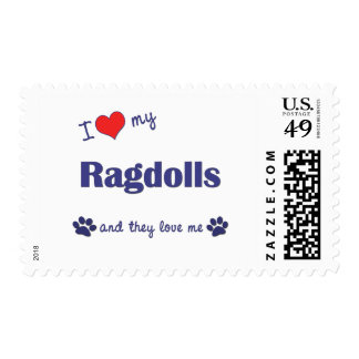 I Love My Ragdolls (Multiple Cats) Postage
