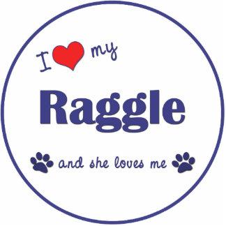 I Love My Raggle (Female Dog) Photo Cut Outs