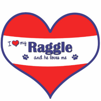 I Love My Raggle (Male Dog) Cut Out
