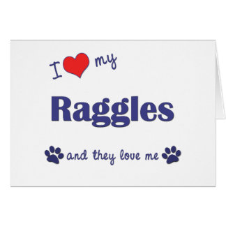 I Love My Raggles (Multiple Dogs) Card