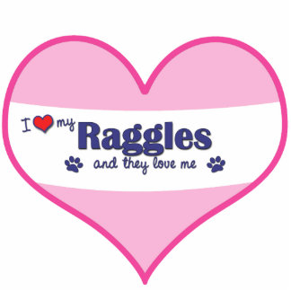 I Love My Raggles (Multiple Dogs) Photo Sculptures