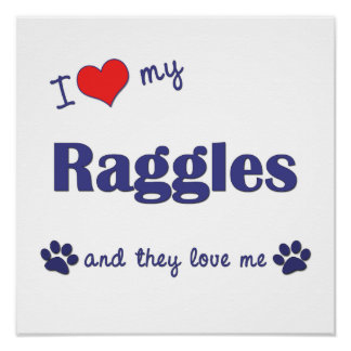 I Love My Raggles (Multiple Dogs) Posters