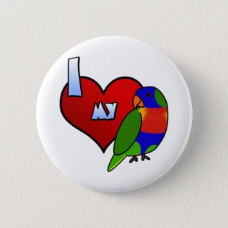 I Love my Rainbow Lorikeet Button