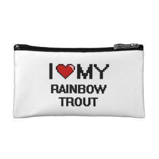 I Love My Rainbow Trout Digital design Makeup Bags