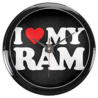 I LOVE MY RAM FISH TANK CLOCKS