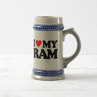 I LOVE MY RAM BEER STEIN