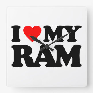 I LOVE MY RAM WALLCLOCKS