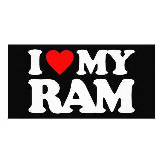 I LOVE MY RAM PHOTO CARD TEMPLATE