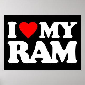 I LOVE MY RAM POSTER