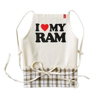 I LOVE MY RAM ZAZZLE HEART APRON